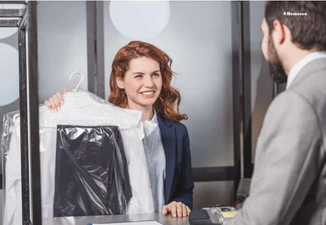 dry cleaning process image