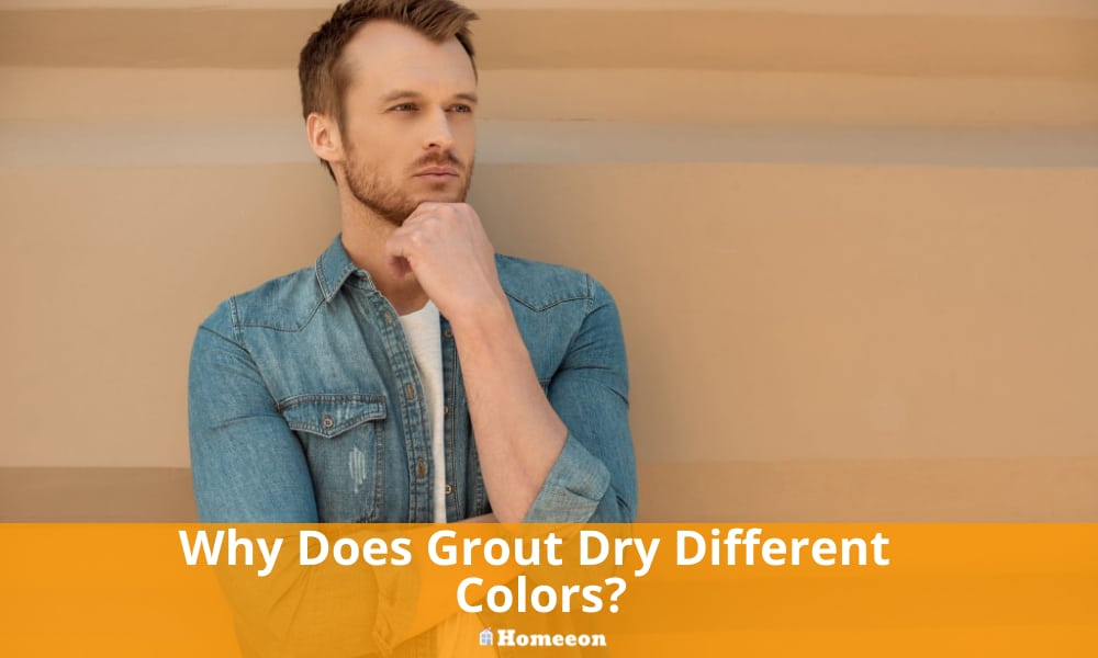 grout dry different colors