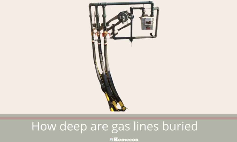 How deep are gas lines buried