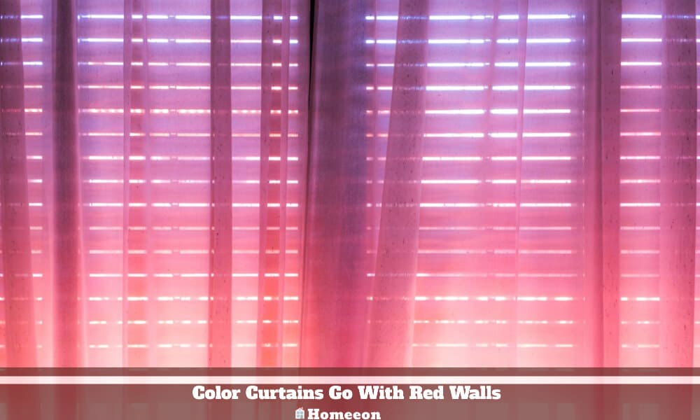 Color Curtains Go With Red Walls