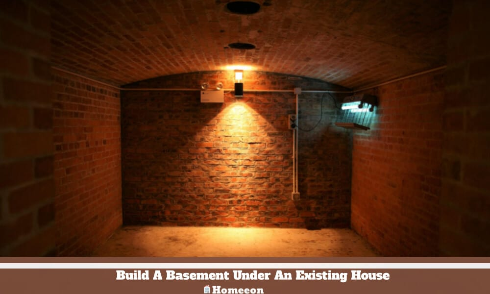 Build A Basement Under An Existing House