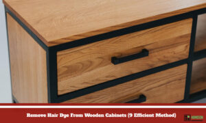 Remove Hair Dye From Wooden Cabinets